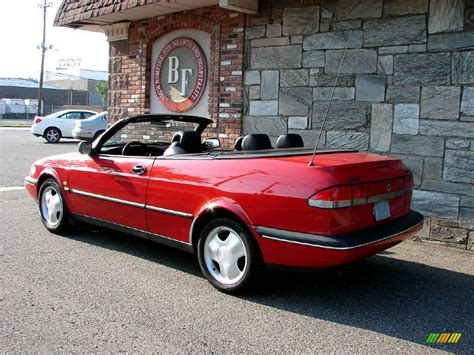 saab convertible red 1996 imola red saab 900 se turbo convertible 11578923