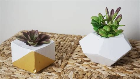 how to make cement planters diy concrete planters