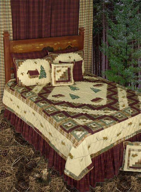 log cabin bed forest log cabin by patchmagic quilts beddingsuperstore com