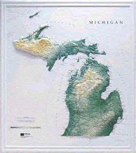 Michigan Topographic Map michigan maps and state information