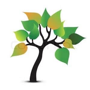tree symbol tree abstract symbol vector icon stock vector colourbox