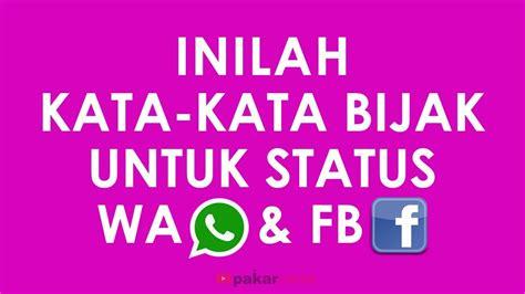 kata kata bijak  status wa status fb youtube