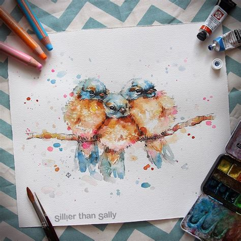nature inspired watercolor paintings by sillier than