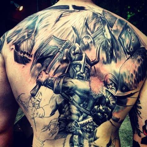 full back tattoo viking viking tattoo on man full back