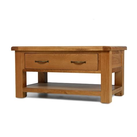 Oak Coffee Table With Drawers Uk by Emsworth Oak Coffee Table With 2 Drawers Lifestyle