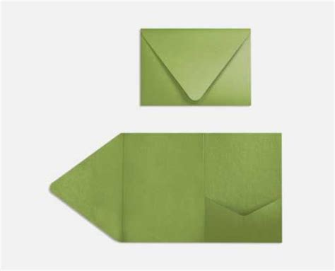 Avocado Pocket avocado green a7 pocket invitations 5 x 7 invitations