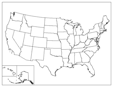 printable map of the united states blank let them eat cake slavery unit plan