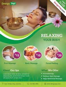 download spa and wellness free psd flyer template