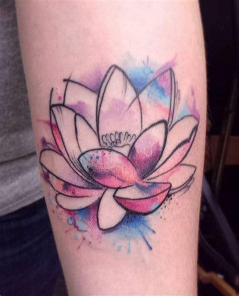 lotus watercolor tattoo designs 50 lotus flower designs watercolor