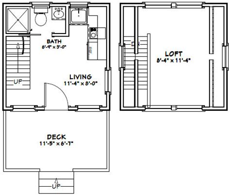 12x12 House Plans 12x12 House W Loft 12x12h2 260 Sq Ft Excellent Floor Plans Tiny Plans