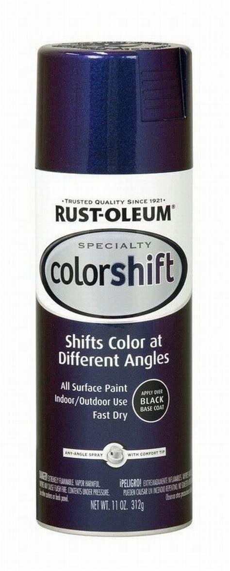 rustoleum color shift rust oleum 254860 sp galaxy blue color shift spray 6