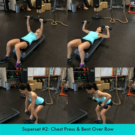 bench press pull up superset total body dumbbell superset workout peanut butter runner