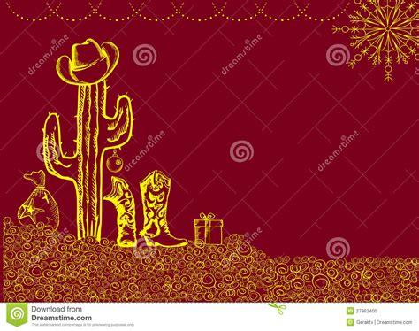 imagenes de feliz navidad vaqueras tarjeta de navidad del vaquero con los elementos del d 237 a