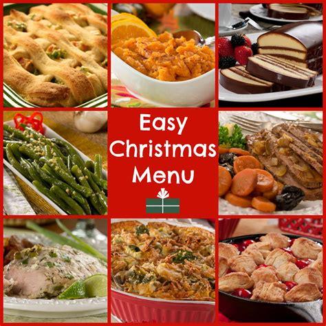 world s easiest christmas dinner menu mrfood com