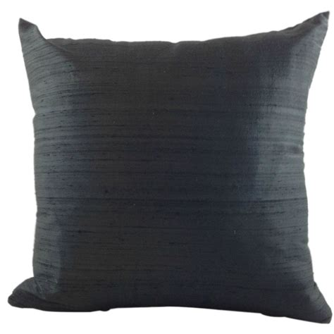 Black Silk Couch Pillow Cover Silk Sofa Pillow Black Throw Sofa Pillow Cover