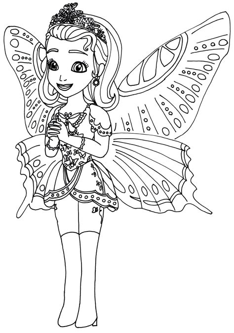 Sofia The First Coloring Pages Princess Butterfly Sofia Sofia Princess Coloring Pages