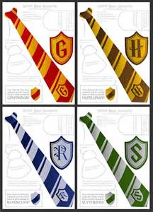 Harry Potter Tie Template by Wizard Ties Badges Foldable Templates High By