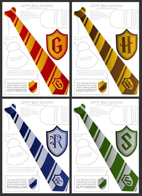 wizard ties badges foldable templates high by