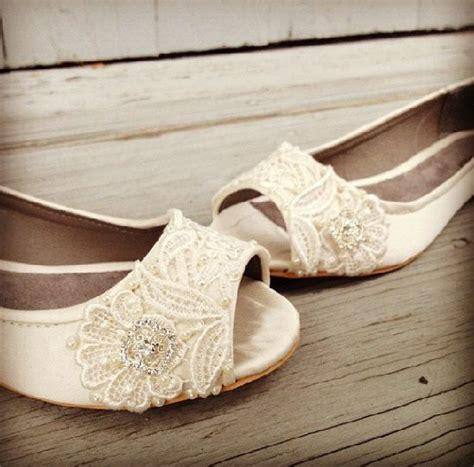 Cremefarbene Ballerinas Hochzeit by Pleat Bridal Open Toe Ballet Flats Wedding Shoes