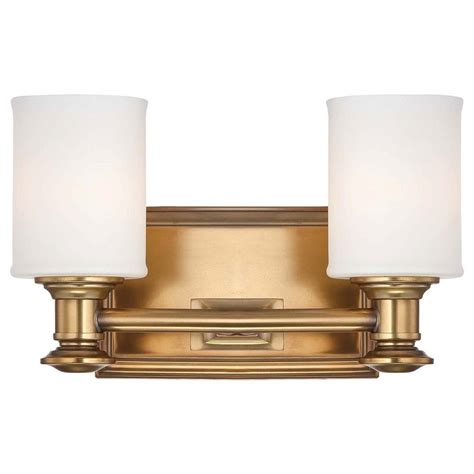 Gold Bathroom Lighting Minka Lavery Harbour Point 2 Light Liberty Gold Bath Light 5172 249 The Home Depot
