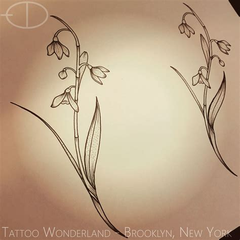 snowdrop tattoo designs snowdrop metallic tattoos