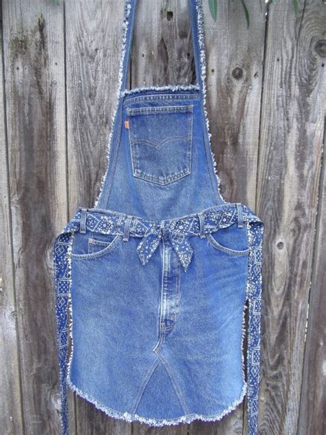 pattern for jeans apron recycled denim overall apron by jomommassignsnseams