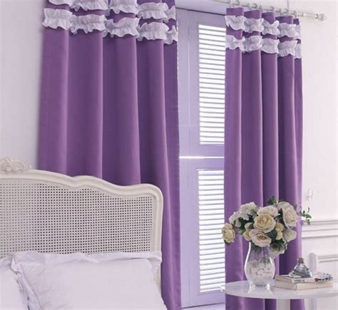 elegant purple curtains for bedroom atzine com