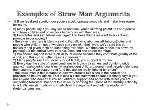 straw man arguments
