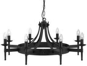 Black Wrought Iron Chandeliers Cartwheel Gothic 8 Light Black Wrought Iron Chandelier