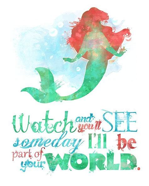 Miss World Mermaid Poster Redrew 2 by Part Of Your World 8x10 Poster Digital