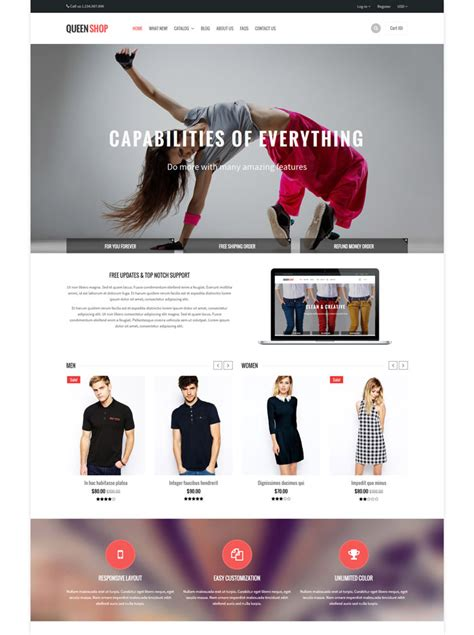 shopify themes queen 20 exceptional ecommerce shopify themes