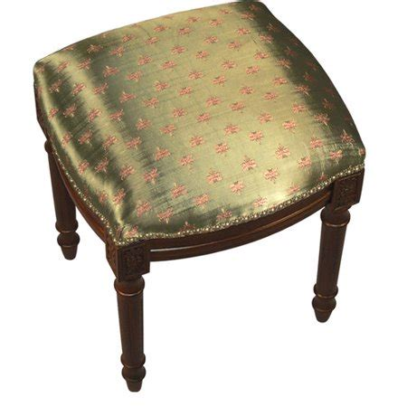 123 Creations Vanity Stool by 123 Creations Dragonfly Upholstered Vanity Stool With