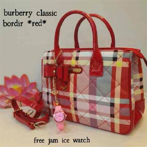 Jam Tangan Wanita Cewek Burberry 001 Semi 4 tas burberry classic bordir bonus