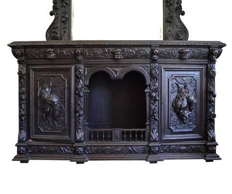 antique belgian sideboard with a mirror for sale at 1stdibs