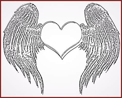 imagenes de corazones goticos con alas dibujos de corazones a color con alas para imprimir
