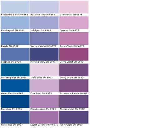 lavender paint color lavender paint colors chart colors paint chart