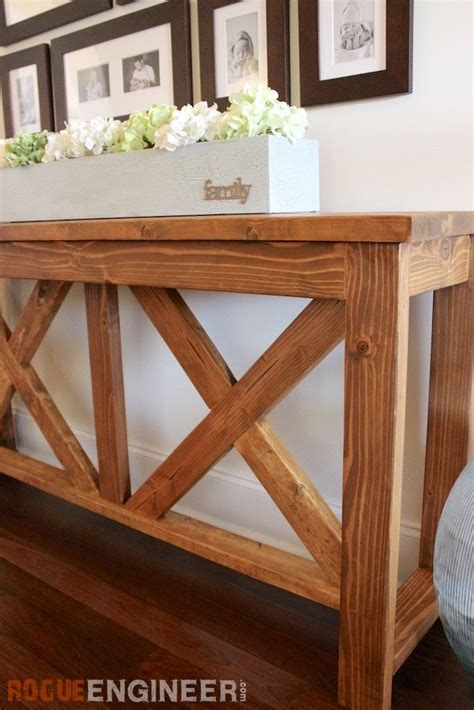 X Brace Console Table Diy X Brace Console Table Free Plans Rogues Console Tables And Consoles