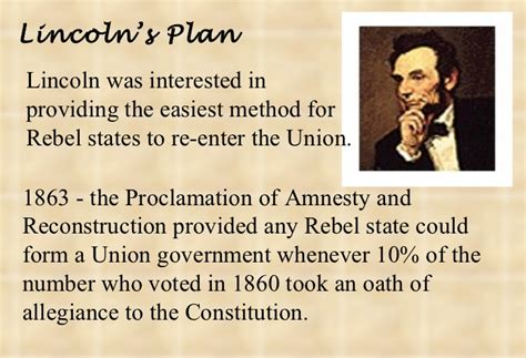 lincoln s 10 percent plan reconstruction 1863 77