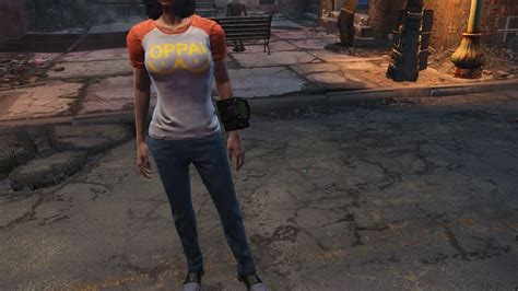 oppai tshirt one punch at fallout 4 nexus mods and