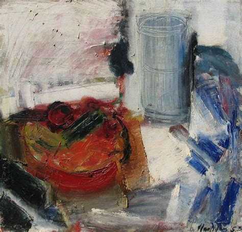 Becker Furniture by Grace Hartigan Still Life With Cucumber Painting At 1stdibs