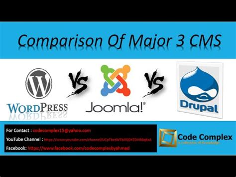 wordpress tutorial in urdu youtube cms comparison wordpress vs joomla vs drupal tutorial in