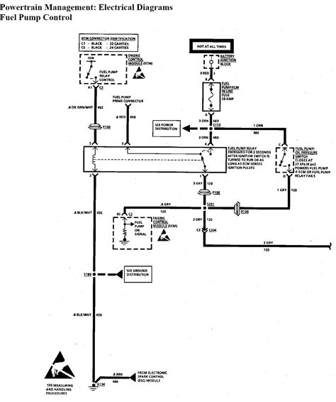 wiring diagram   fuel pump    buick roadmaster