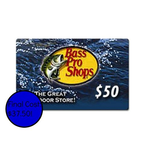 Bass Pro Gift Card - 50 bass pro shops gift card just 37 50