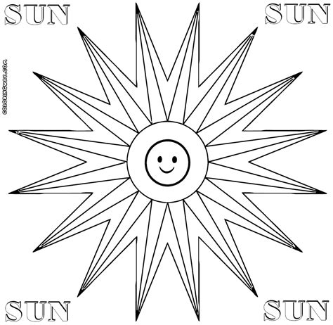 smiling sun coloring page smiling sun coloring page coloring pages