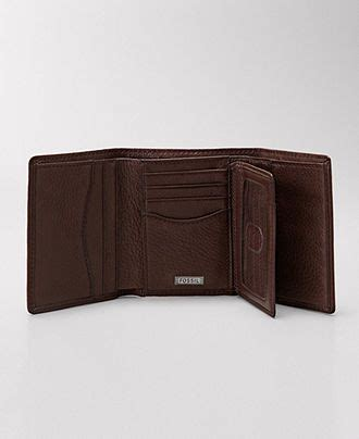 Ready Sale Fossil Emerson Trifold Wallet Black Leather Original fossil wallet midway leather trifold wallet mens belts