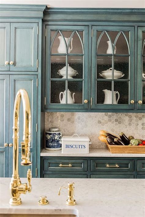 kitchen cabinets with hardware blue kitchen cabinets gold hardware design ideas
