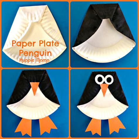 How To Make A Paper Plate Penguin - penguin crafts up crafts