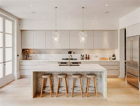 marble island kitchen 19 of the most stunning modern marble kitchens wood stool countertop and marbles