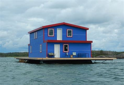 houseboat yellowknife the big blue houseboat picture of the floating b b