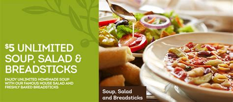 olive garden coupon unlimited soup 5 00 unlimited soup salad and breadsticks at olive